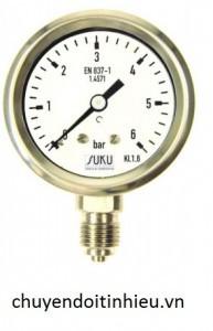 Đồng hồ đo áp suất 0-6bar inox 316