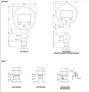 Đồng hồ đo áp suất Bd sensor Giá rẻ