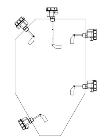Cảm biến xoay đo mức chất rắn trong silo