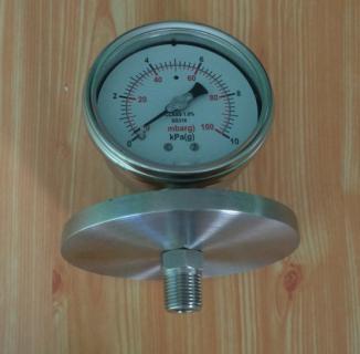 Một đồng hồ áp suất màng