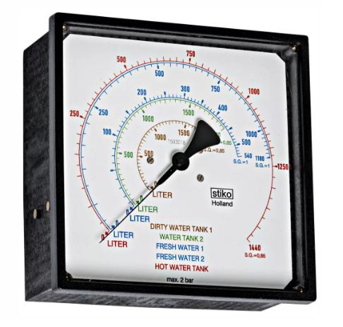 đồng hồ áp suất mặt vuông gắn tủ điện