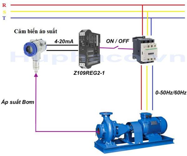 cảm biến áp suất điều khiển bơm trên đường ống nước