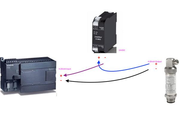 kết nối cảm biến áp suất với plc s7200