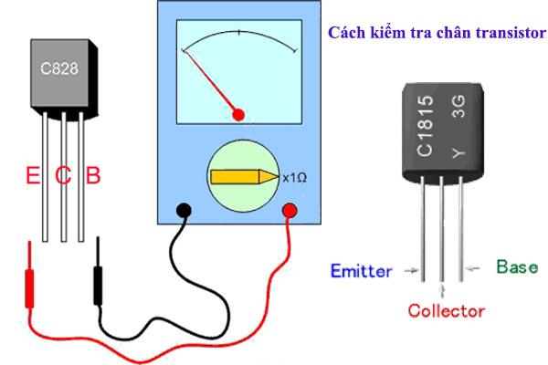 Cách xác định chân transistor