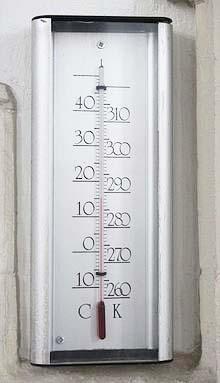 nhiệt kế độ K và độ C