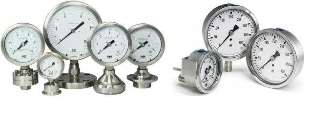 Các loại đồng hồ áp suất inox