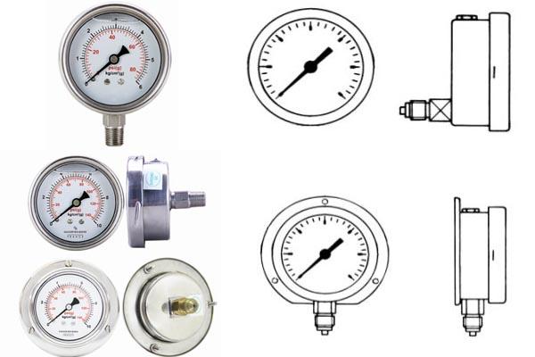 kiểu kết nối của đồng hồ áp suất