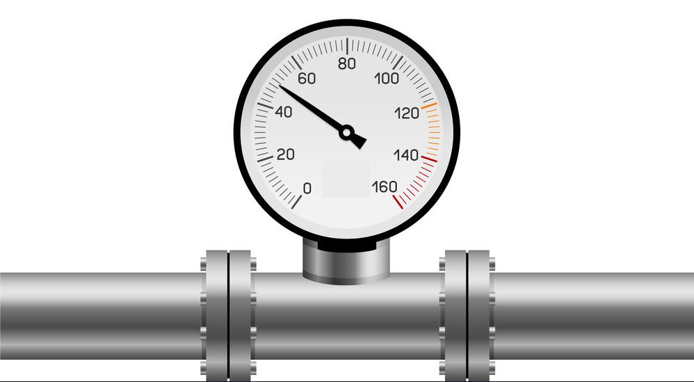 Hình minh họa đồng hồ đo áp suất nước
