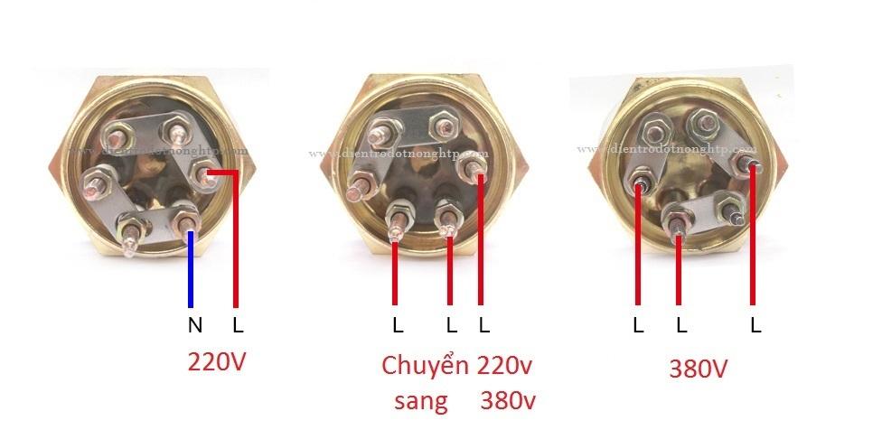 Cách đấu điện trở nhiệt 3 pha