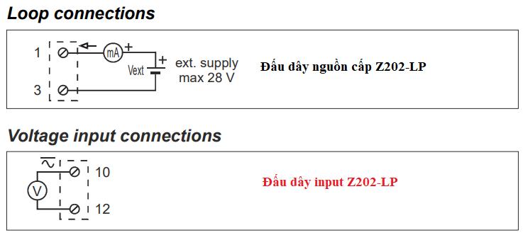 cách đấu dây bộ Z202-lp