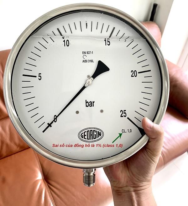 Sai số của đồng hồ áp suất dạng cơ